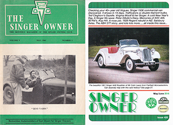 Photos of Singer Owner Magazine