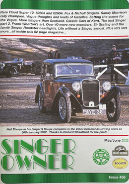 Singer Owner Magazine Cover